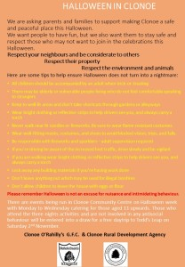Halloween Celebrations in Clonoe B advice